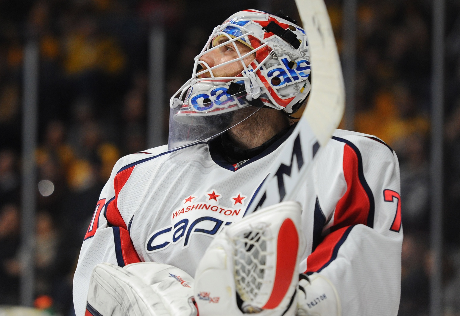 Braden Holtby. Christopher Hanewinckel / USA Today Sports Images