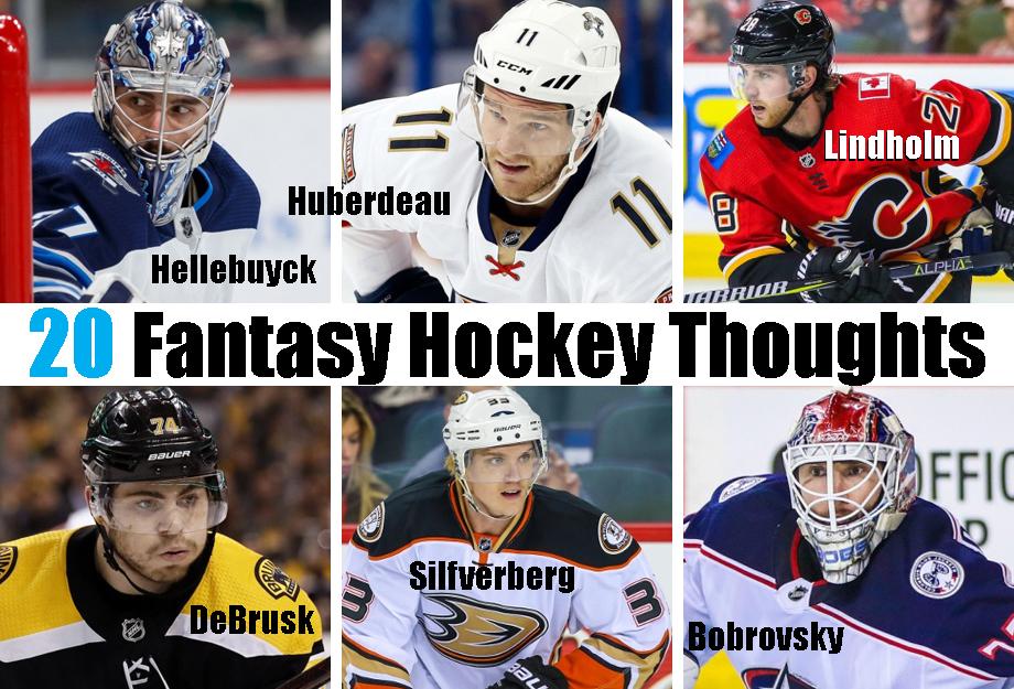 20 Fantasy Hockey Thoughts