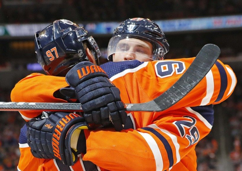 Connor McDavid (97), Leon Draisaitl (29). Perry Nelson USA Today Sports Images